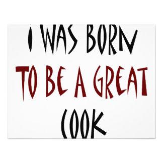 Ich war geboren ein großer Koch zu sein Individuelle Ankündigungskarte