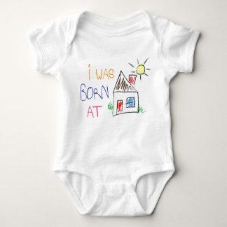 """""""Ich war geborener zu Hause"""" Baby-Körper-Anzug Babybody"""