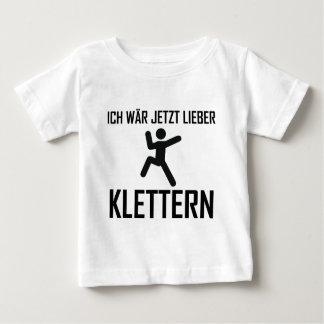 ich wär jetzt lieber klettern baby t-shirt