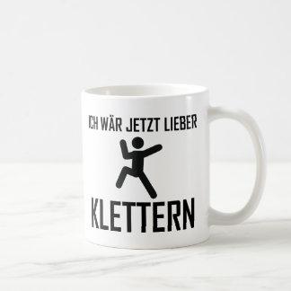 ich wär jetzt lieber klettern kaffeetasse