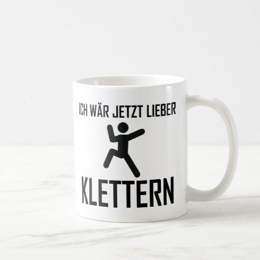 ich wär jetzt lieber klettern kaffeehaferl