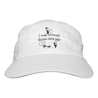 Ich war Katzen des Normal-vor 3 Leistungs-Hut Headsweats Kappe