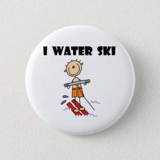 Ich Wasser-Ski Runder Button 5,1 Cm