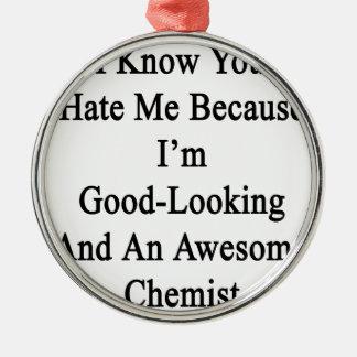 Ich weiß, dass Sie mich hassen, weil ich und schön Rundes Silberfarbenes Ornament