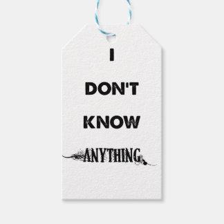 Ich weiß nichts geschenkanhänger