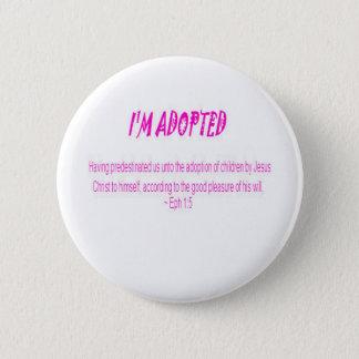 Ich werde adoptiert runder button 5,1 cm