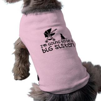 Ich werde eine große Schwester sein! Ärmelfreies Hunde-Shirt