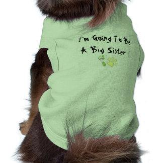 Ich werde eine große Schwester sein Ärmelfreies Hunde-Shirt