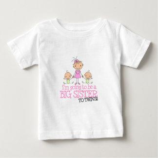 Ich werde eine große Schwester zu den ZWILLINGEN Baby T-shirt