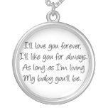 Ich werde Liebe Sie für immer Amulett