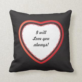 Ich werde Liebe Sie immer, DIY Text Kissen