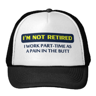 Ich werde nicht, ich arbeite teilzeitlich als Schm Truckerkappe