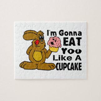 Ich werde Sie essen mag einen kleinen Kuchen Puzzle
