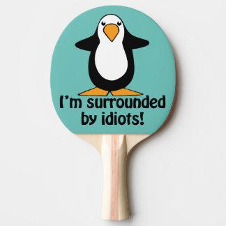 Ich werde von den Idioten umgeben! Lustiger Tischtennis Schläger