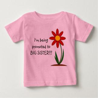 Ich werde zum große Schwester-Säuglings-T-Shirt Baby T-shirt