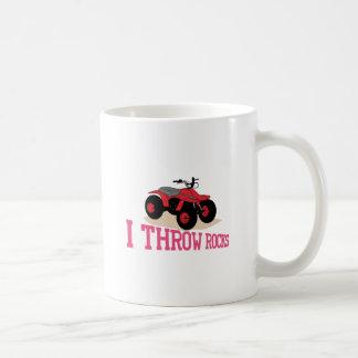 Ich werfe Felsen Kaffeetasse