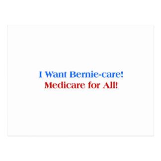 Ich will Bernie-Sorgfalt, Medicare für alle! Postkarte