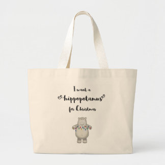 Ich will einen Hippopotamus für Weihnachten - Jumbo Stoffbeutel