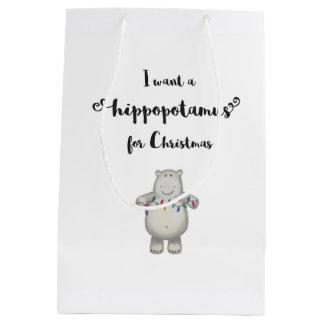 Ich will einen Hippopotamus für Weihnachten - Mittlere Geschenktüte