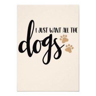 Ich will gerade alle Hunde Karte