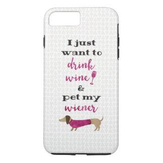 Ich will gerade, um Wein zu trinken und pet meine iPhone 8 Plus/7 Plus Hülle