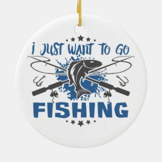 Ich will gerade, um zu fischen zu gehen keramik ornament