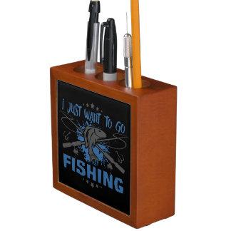 Ich will gerade, um zu fischen zu gehen stifthalter