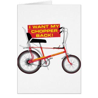 Ich will meine Chopperrückseite Karte
