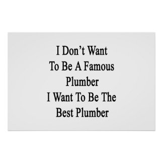 Ich will nicht, um ein berühmter Klempner zu sein, Poster