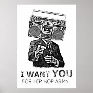 Ich will Sie für Angesagthopfenarmee Plakat