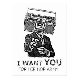 Ich will Sie für Angesagthopfenarmee Postkarte