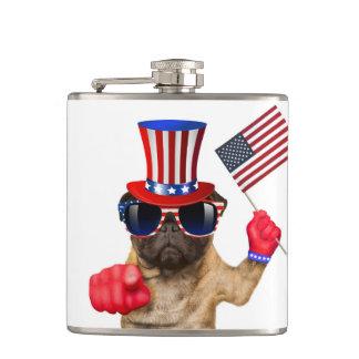 Ich will Sie, Mops, Uncle Sam Hund, Flachmann
