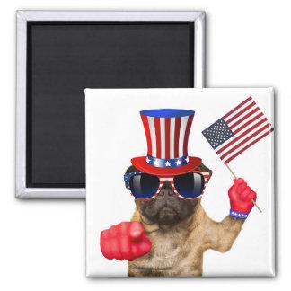 Ich will Sie, Mops, Uncle Sam Hund, Quadratischer Magnet