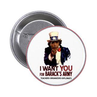 Ich will Sie - politischer Knopf Obama Runder Button 5,1 Cm