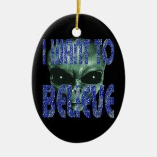 Ich will, um 2 zu glauben keramik ornament