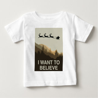 Ich will, um an Weihnachten zu glauben Baby T-shirt
