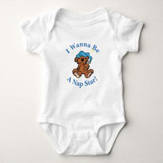 Ich will, um ein Nickerchen-Stern-schläfriger Baby Strampler