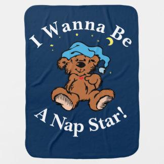 Ich will, um ein Nickerchen-Stern-schläfriger Babydecke