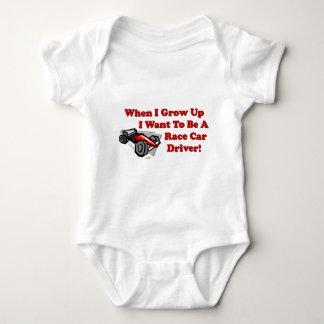 Ich will, um ein Rennen-Auto-Fahrer zu sein Baby Strampler