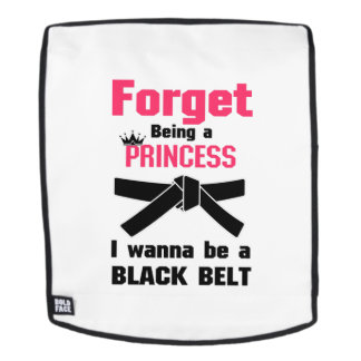 Ich will, um ein schwarzer Gurt-Karate Taekwondo Rucksack