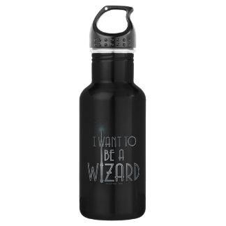 Ich will, um ein Zauberer zu sein Edelstahlflasche