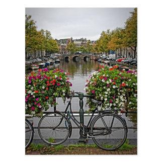 Ich will, um mein Fahrrad in Amsterdam zu fahren - Postkarte