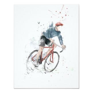 Ich will, um mein Fahrrad zu fahren 10,8 X 14 Cm Einladungskarte
