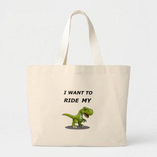 Ich will, um mein zu reiten jumbo stoffbeutel