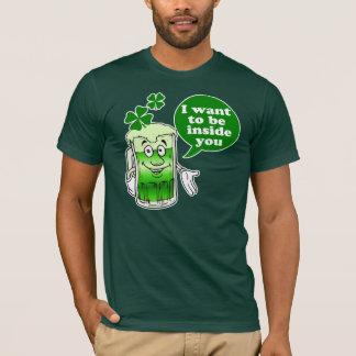 Ich will, um nach innen zu sein Sie Tag St. Pattys T-Shirt