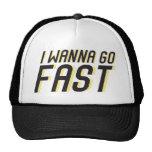Ich will, um schnell zu gehen baseball mützen