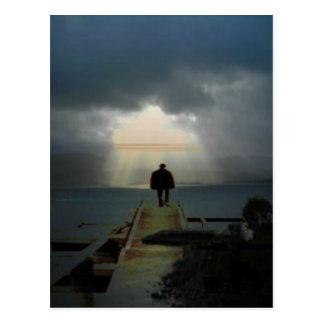 Ich will, um wo zu sein helle shines.jpg postkarte