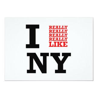 Ich wirklich mag wirklich wirklich NY 12,7 X 17,8 Cm Einladungskarte