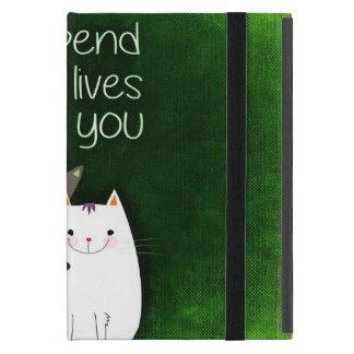 Ich würde alle neun Leben mit Ihnen zwei Katzen Hülle Fürs iPad Mini