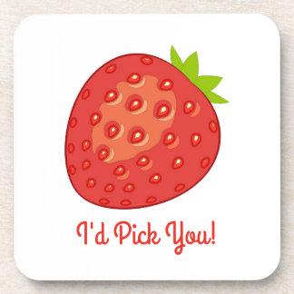 """""""Ich würde auswählen Sie!"""" ErdbeerUntersetzer Untersetzer"""